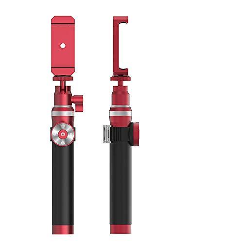 ppand Selfie Stick, Supporto Tre in Uno Multifunzione con Telecomando Bluetooth, treppiede in Alluminio a Scomparsa, iPhone Compatibile, Samsung, Huawei e Altri Smartphone-Rosso