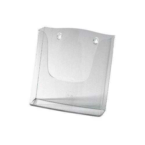 SIGEL LH115 Porta-folletos de pared acrylic, con 1 compartimento, Material acrílico, para A4, 1 unds.