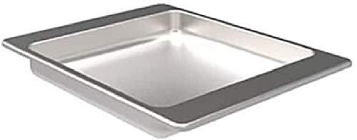 barbecook BBQ Grillschale Fett-Tropf-Schale Zubehör für Grill-Spieß, Silber, 43x35x51 cm