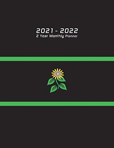 2021-2022 Two year monthly planner: 2 year monthly planner, 2021-2022 monthly planner 8.5 x 11, yellow flower planner, 2021-2022 calendar monthly ... monthly 8.5 x 11,2021-2022 floral agenda
