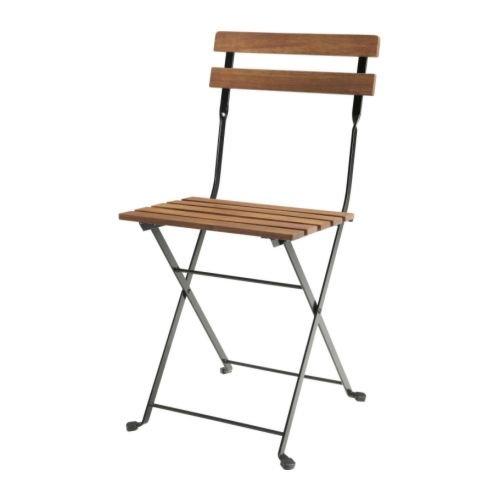 "Ikea tärnö ""Balcón silla inkl. Asiento Cojín ""sarö–Silla de jardín madera de acacia y acero–para exteriores."