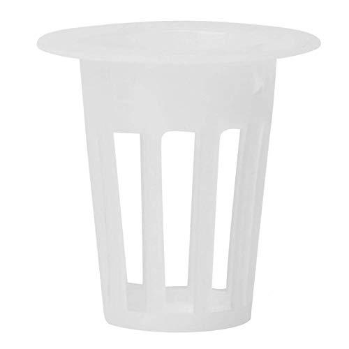 100Pcs Vaso idroponico aeroponico Vaso per piante senza suolo Cesto per la coltivazione di fiori per ortaggi idroponici e coltivazione fuori suolo(bianca)