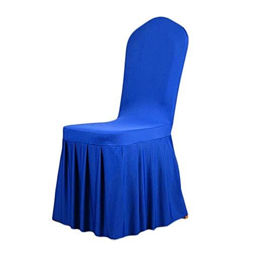 Crystallly Elastische stoelhoes, elegant geplooid, rok patroon, bedsprei, displaybeschermfolie, cover voor eenvoudige stijl, bruiloft, feest, eetkamerstoel, covershome decoratie, goudkleurig, gratis maat
