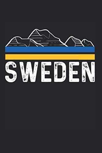 Sweden Schweden Stockholm Flagge Fahne Urlaub Notizbuch: 120 Seiten Gepunktet