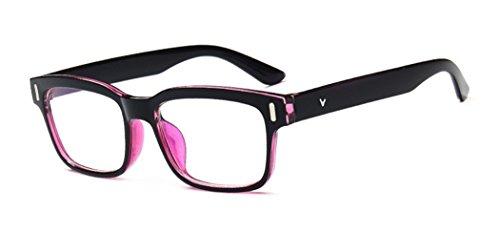 DAUCO Brille Extra Schmaler Rahmen! Slim Rechteck Clear Brille klare Linse Brille Augen Durchsichtig Gläser Wechselgläse