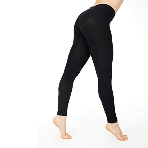 B/H Super Doux Pantalon de Yoga Extensible,Pantalon de Yoga Skinny Slim pour Femme, Legging de Fitness élastique Taille Haute-Noir_XXL
