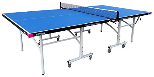 Butterfly Easifold 12 Rollaway Indoor and Outdoor Table Tennis Table, Blue