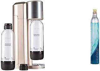 Levivo Machine à Soda sans bonbonne de CO² Or Rose, Gazeuse + SET200200000251A Cylindre de CO2, Argent