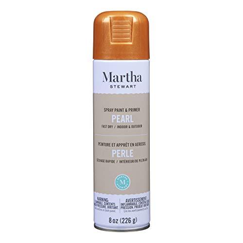 Martha stewart paint & primer 8oz spray paint, pearl rose copper 8 ounce