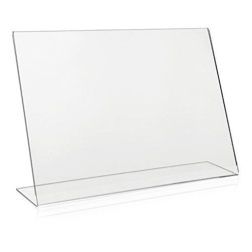DIN A3 Werbeaufsteller/L-Ständer/L-Aufsteller im Querformat/Tischaufsteller aus original PLEXIGLAS®