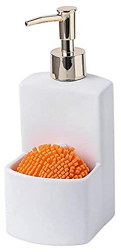 STBAAS Dispensador de jabón, diseño de la bomba de la bomba del dispensador del dispensador del dispensador de la encimera con el compartimiento del almacenamiento 2 en 1 Dispensador de loción de alta