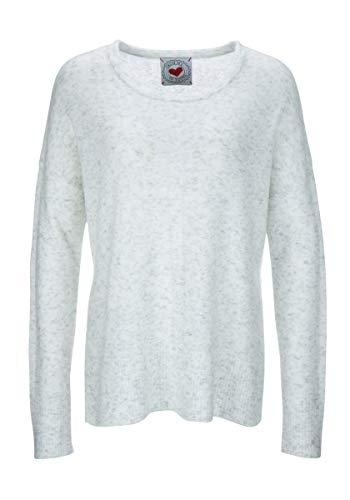 FROGBOX Damen Pullover Sweater Flausch Melange froginlove (42)