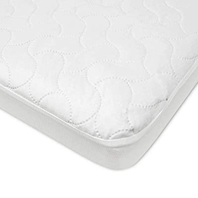American Baby Company Waterproof Fitted Crib and Toddler Protective Mattress Pad Cover, White (Pack of 1), for Boys and Girls from American Baby Company