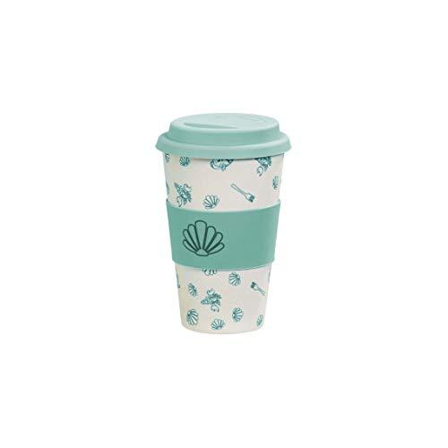 Funko Disney: Colour Block: Bamboo Lidded Mug: Under The Sea Taza con Tapa, Fibra de bambú, 420ml