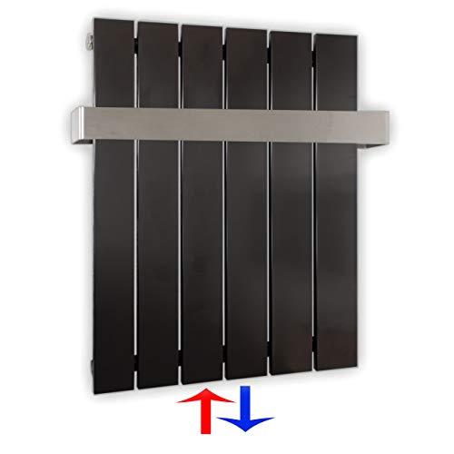 Design Paneelheizkörper Heizkörper Badheizkörper mit Mittelanschluss Handtuchstange Edelstahl alle Größen (0600 x 450, Anthrazit) (294 Watt nach EN442)