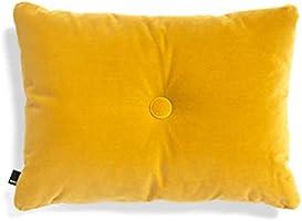 HAY Dot Soft kudde 60 x 45 cm, gul sammet Lola polyesterfyllning 1 knapp
