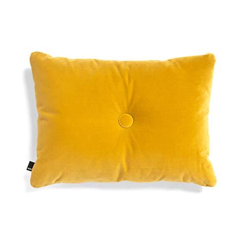 HAY Dot Soft Kissen 60x45cm, gelb Samtstoff Lola Polyesterfüllung 1 Knopf