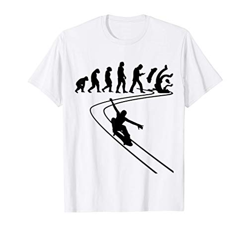 Patinador patineta Skateboard Stunts Evolución Longboards Camiseta