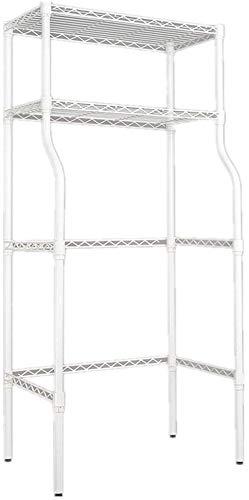 L.TSA Lagerregal GonFan Badezimmerregale Robustes 2-Regal Weiß über Waschmaschine Lagerregal Utility Metall Badezimmer Platzsparer Für Waschküche Toilette Badezimmer Raumsparende Regale