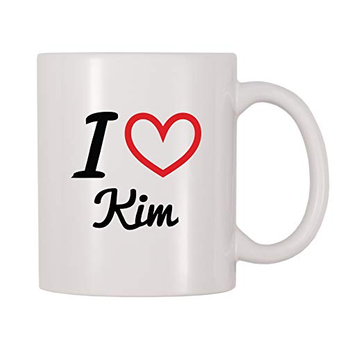 4 All Times I Love Kim Personalized Name Coffee Mug (11 oz)