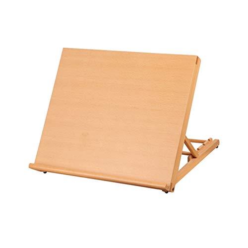 1 caballete portátil de madera para bocetos con soporte fuerte, suministros de arte (color pequeño)