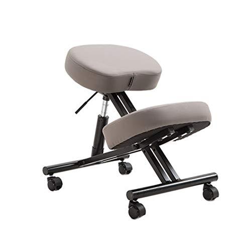 Kniender Stuhl Student Chair Lift Stuhl Haltung Korrektur Lernstuhl Kinder Massivholz Home Computer Stuhl Kniende Stuhl Geeignet für Ihre Familie (Farbe : Grau, Size : 54-62x50x70cm)