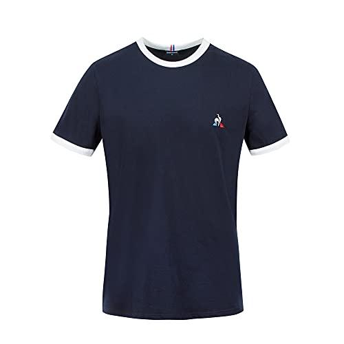 Le Coq Sportif Camiseta Modelo ESS tee SS N°4 Marca, Sky Captain/New Optical White, M