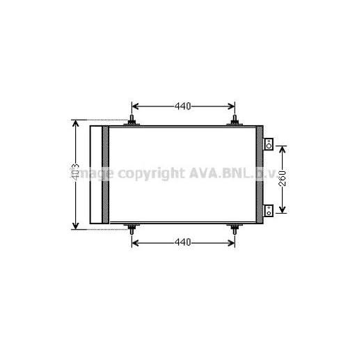 AVA QUALITY COOLING CNA5263 Condensatore, Climatizzatore