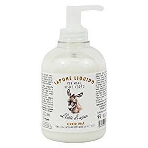 DELICATO D'ASINA - Bio Liquid Soap with Donkey Milk - Extremely Moisturizing and Nourishing - 300 ml