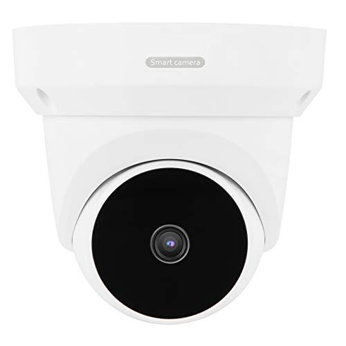 Cámara de vigilancia 1080P WiFi PTZ, soporte para interiores y exteriores Detección de movimiento de gran angular de 355 °, visión nocturna por infrarrojos (UE 110-220V)