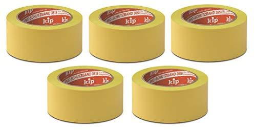 KIP 3818 PVC-Klebeband gelb, quer gerillt 50 mm x 33 m - 5 Rollen