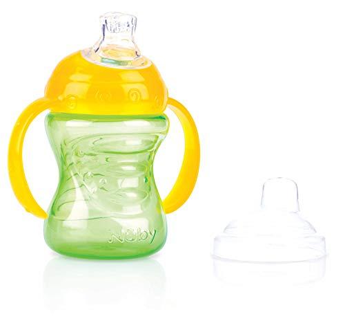 Nûby - Auslaufsichere No-Spill Trinklerntasse - Grün - 240ml - 6 Monate