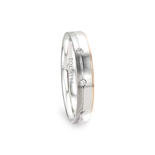 EQUALLI Leucippus Couple's Matching Wedding Ring in 14K Gold With Diamond (Size: 7)