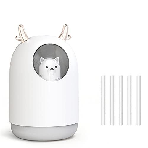 DEWTOP Humidificador Humidificador de Aire 300ml Conejo Lindo Ultra-silencioso USB Aroma HABITACIÓN Esencial Coche Lámpara de Noche Purificador de Aire Mist Mist Maker Air Fresher humidificadores