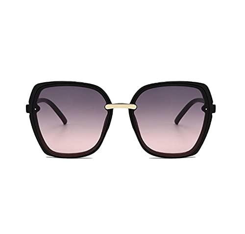 FDNFG Occhiali da Sole Cornice Moda Occhiali in Metallo Uomini Donne Occhiali Telaio Metallo retrò Grande Protezione UV Occhiali da Sole Specchio Signore (Lenses Color : 07)