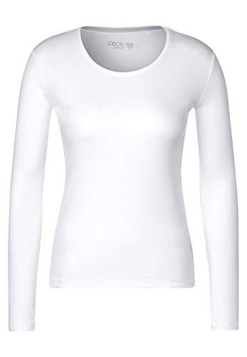 Cecil Damen B315349 T-Shirt, White, Small