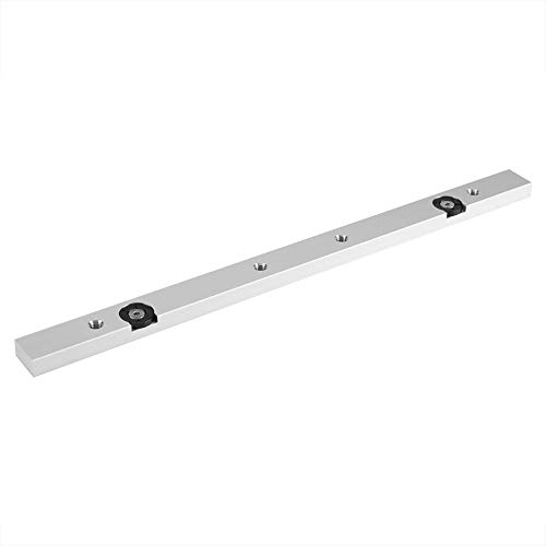 Miter Bar, 1Pcs Durable In Use Aluminium Alloy Miter Bar Slider Table Saw Gauge Rod Wood Working Tool Suitable for Jigs Fixtures Sleds Router Tables and General Woodworking, 300 mm / 11.81 inch