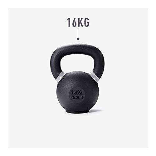 WWY Workout Kettlebells Weights, Kettle Bell Cast Iron Kettlebell Strength Training Kettlebells for Strength Training, Conditioning, and Fitness (Color : 16kg)