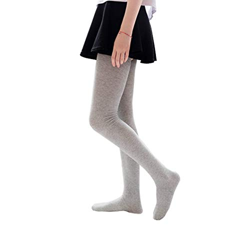 Bakicey Damen Kniestrümpfe Socken Overknee Strümpfe, Mädchen 80cm Strumpfhosen Baumwollstrümpfe Stützkniestrümpfe Gestrickte Strick Socken Hoch Über das Knie Lange Socken Winter Strümpfe (Grau)