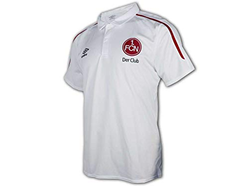 UMBRO 1.FC Nürnberg Poloshirt weiß Der Club Bundesliga Fan Polo FCN Jersey, Größe:M