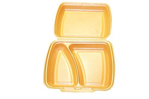PGV 250 Menüboxen 2 geteilt geschäumt Creme/orange Menüschalen