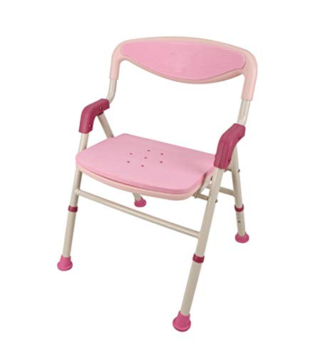 WJY Aleación De Aluminio Plegable Baño Ancianos Discapacitados Embarazadas Silla De Baño Taburete De Baño Ajustable Antideslizante
