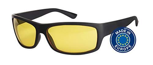 Blaulichtfilter – Sportbrille – Wrap-around Brille, Blue Blocker mit Kantenfilter 450, UV-Schutz, Blendschutz, kontraststeigernde Unisex-Lichtschutzbrille IV PROSHIELD