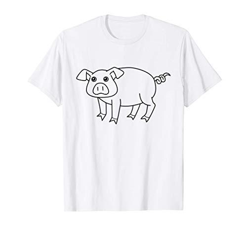 Schwein Schweinchen zum Kreativ Selbst Gestalten & Ausmalen T-Shirt