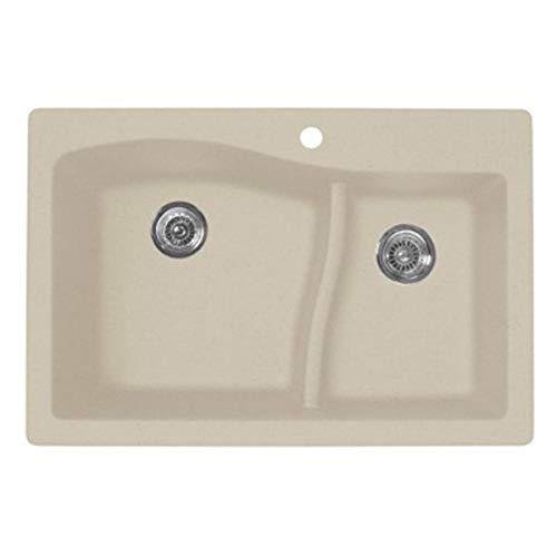 Swanstone QZ03322LS.076 Granite 1-Hole Dual Mount Single-Bowl Kitchen Sink