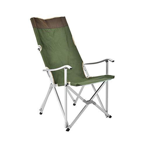 WYY Chaise Longue Pliable Chaise Pliante de Dossier de Camping, Chaise de Pêche Portative Extérieure, Fauteuil Club Extérieur Rembourré avec Poche de Rangement Pliant Jardin Chaise Longue Chaise