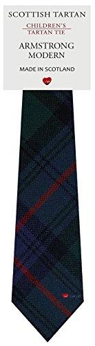 I Luv Ltd Garçon Tout Cravate en Laine Tissé et Fabriqué en Ecosse à Armstrong Modern Tartan