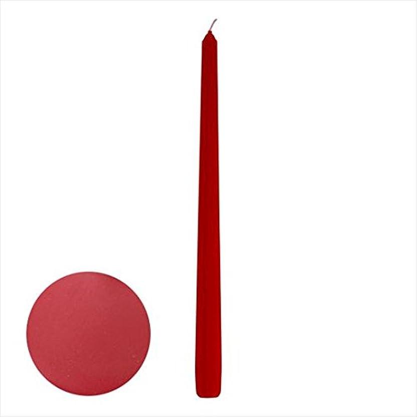 ライバル刺激する頼るカメヤマキャンドル(kameyama candle) 12インチテーパー 「 ダークレッド 」 12本入り