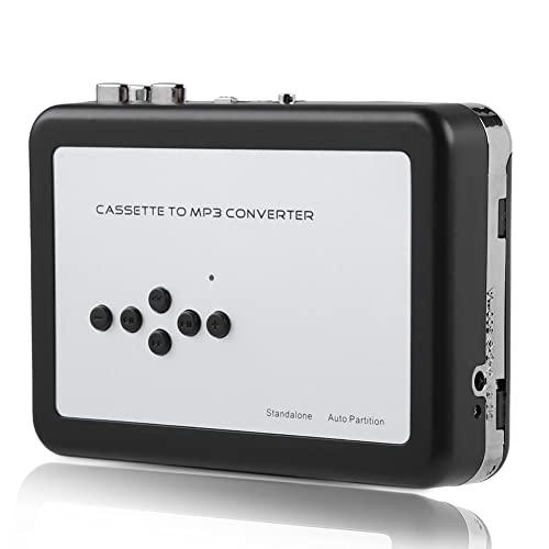 Sutinna Convertitore da Nastro a MP3, Lettore di Cassette Portatile per acquisizione Audio Digitale Lettore Musicale con Driver Flash USB Adatto per Windows XP/Vista/7/8