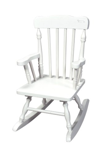 Gift Mark Colonial Rocking Chair, Wood, White